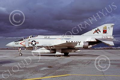 F-4USN 00333 McDonnell Douglas F-4J Phantom II US Navy 155747 VF-11 RED RIPPERS USS Forrestal NAS Moffett  Nov 1978, by Michael Grove, Sr