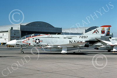 F-4USN 00339 McDonnell Douglas F-4J Phantom II US Navy VF-11 RED RIPPERS Commanding Officer's airplane USS Forrestal NAS Miramar 3-1976, by Michael Grove, Sr