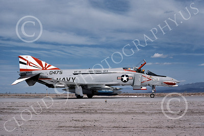 F-4USN 00449 McDonnell Douglas F-4J Phantom II US Navy 150475 VF-111 SUNDOWNERS USS Coral Sea Bicetennial Markings with practice bombs NAS Fallon May 1976, by Michael Grove, Sr
