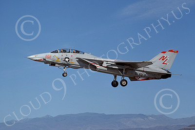 F-14USN 01006 A landing Grumman F-14A Tomcat USN 160680 VF-111 SUNDOWNERS USS Kitty Hawk NAS Fallon 6-1980, by Michael Grove, Sr
