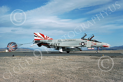 F-4USN 00447 McDonnell Douglas F-4J Phantom II US Navy 1510 VF-111 SUNDOWNERS USS Coral Sea Bicentennial Markings NAS Fallon May 1976, by Michael Grove, Sr
