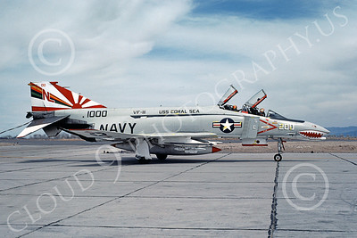 F-4USN 00441 McDonnell Douglas F-4J Phantom II US Navy VF-111 SUNDOWNERS commanding officer's airplane USS Coral Sea NAS Fallon June 1976, by Michael Grove, Sr