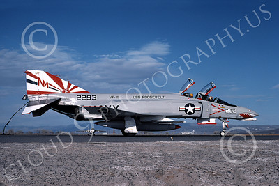 F-4USN 00445 McDonnell Douglas F-4J Phantom II US Navy 152293 VF-111 SUNDOWNERS USS Roosevelt Bicentennial Markings NAS Fallon 5-1976, by Michael Grove, Sr