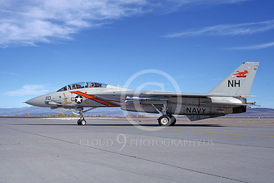 F-14USN 01063 A taxing Grumman F-14 Tomcat USN 159870 VF-114 AARDVARKS USS Kitty Hawk NAS Fallon 11-1980, by Michael Grove, Sr