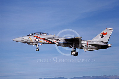 F-14USN 01062 A landing Grumman F-14 Tomcat USN 160895 VF-114 AARDVARKS NAS Fallon 11-1980, by Michael Grove, Sr