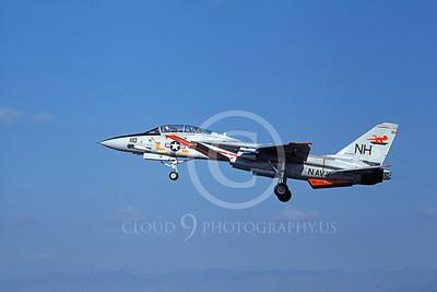 F-14USN 01076 A landing Grumman F-14 Tomcat USN 159868 VF-114 AARDVARKS USS America 11-1978, by Michael Grove, Sr