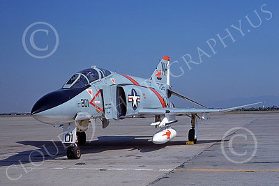 F-4USN 00347 McDonnell Douglas F-4J Phantom II US Navy 7245 VF-114 AARDVARKS NAS Miramar Aug 1974, military airplane picture, by Michael Grove, Sr