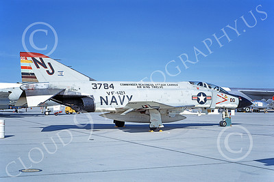 F-4USN 00713 A static McDonnell Douglas F-4J Phantom II US Navy 153784 VF-121 PACEMAKERS CAG Edwards AFB 6-1968 military airplane picture by Michael Grove, Sr