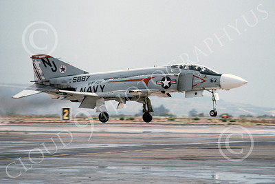 F-4USN 00315A McDonnell Douglas F-4 Phantom II US Navy 5887 VF-121 PACEMAKERS NAS Miramar Oct 1976, by Michael Grove, Sr