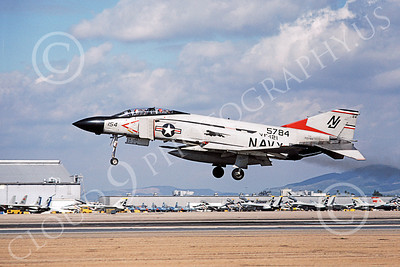 F-4USN 00360 McDonnell Douglas F-4J Phantom II US Navy 155784 VF-121 PACEMAKERS NAS Miramar Feb 1979, by Michael Grove, Sr