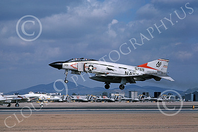 F-4USN 00194 A flying McDonnell Douglas F-4J Phantom II US Navy 155769 VF-121 PACEMAKERS NJ code NAS Miramar 2-1979 military airplane picture by Michael Grove, Sr
