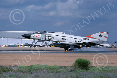 F-4USN 00653 A landing McDonnell Douglas F-4 Phantom II US Navy 3907 VF-121 PACEMAKERS NJ code NAS Miramar 2-1979 military airplane picture by Michael Grove, Sr