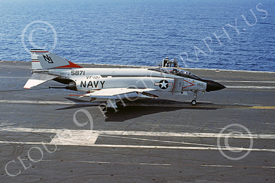 F-4USN 00176A McDonnell Douglas F-4J Phantom II US Navy 155871 VF-121 PACEMAKERS 14 Dec 1976, military airplane picture, by Don Logan