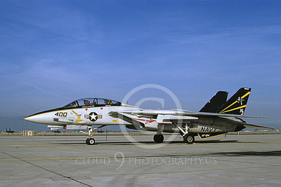 F-14USN 01103 A static Grumman F-14 Tomcat USN 161620 VF-124 GUNFIGHTERS NAS Fallon 2-1992, by Michael Grove, Sr