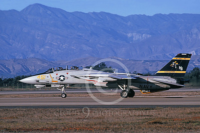 F-14USN 01117 A taxing Grumman F-14 Tomcat USN 162589 VF-124 GUNFIGHTERS 10-1989, by Michael Grove, Sr