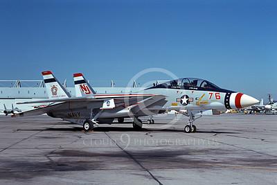 F-14USN 01081 A static Grumman F-14 Tomcat USN 159616 VF-124 GUNFIGHTERS NAS Miramar 1-1976 BICENTENNIAL, by Michael Grove, Sr