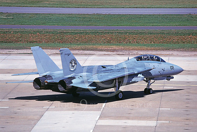 F-14USN 01105 A taxing Grumman F-14 Tomcat USN VF-124 GUNFIGHTERS 10-2006, by David F Brown