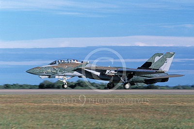 F-14USN 01112 A landing Grumman F-14 Tomcat USN VF-124 GUNFIGHTERS 11-1986, by Michael Grove, Sr