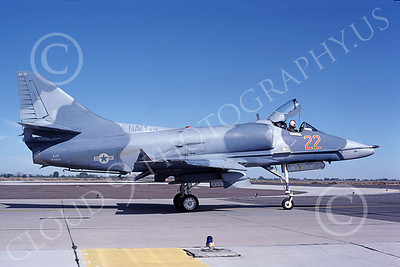 A-4USN 00318 A US Navy Douglas A-4F Skyhawk, 155031, VF-126 FIGHTING SEA HAWKS, adversary aircraft, NAS Fallon 10-1982, airplane picture, by Michael Grove, Sr
