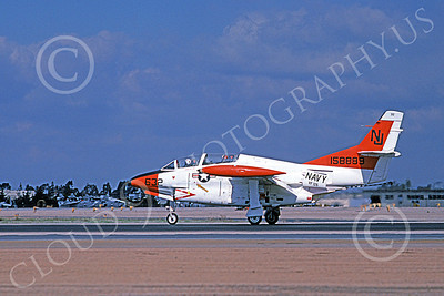 T-2USN 00099 A landing North American Aviation T-2C Buckeye USN 158883 VF-126 FIGHTING SEA HAWKS NAS Miramar 2-1979 military airplane picture by Michael Grove, Sr