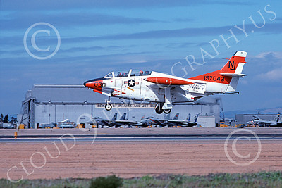 T-2USN 00098 A landing North American Aviation T-2C Buckeye USN 157043 VF-126 FIGHTING SEA HAWKS NAS Miramar 2-1979 military airplane picture by Michael Grove, Inc