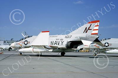 F-4USN 00393 McDonnell Douglas F-4B Phantom II US Navy 151017 VF-151 VIGILANTES NAS Miramar Sept 1964, by Doug Olson