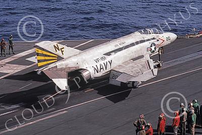 F-4USN 00421 McDonnell Douglas F-4J Phantom II US Navy 153879 VF-151 VIGILANTES USS Midway 8-1987 by Clay Jansson