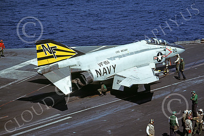 F-4USN 00543 A McDonnell Douglas F-4J Phantom II US Navy 155505 VF-151 VIGILANTES USS Midway Feb 1980 military airplane picture by Pete Clayton