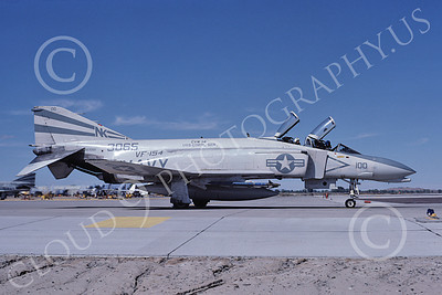 F-4USN 00127 A taxing McDonnell Douglas F-4 Phantom II US Navy 3065 VF-154 BLACK KNIGHTS commanding officer's USS Coral Sea NK NAS Fallon Oct 1982 military airplane picture by Michael Grove, Sr