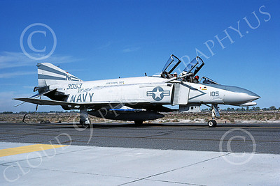 F-4USN 00539 A taxing McDonnell Douglas F-4 Phantom II US Navy 3053 VF-154 BLACK KNIGHTS USS Coral Sea NK NAS Fallon Oct 1982 military airplane picture by Michael Grove, Sr