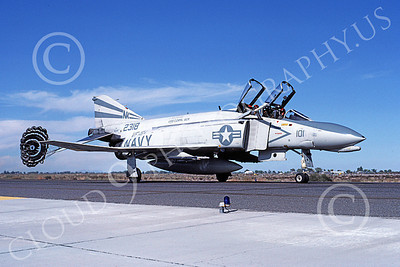F-4USN 00597 A taxing McDonnell Douglas F-4 Phantom II US Navy 2318 VF-154 BLACK KNIGHTS USS Coral Sea NK NAS Fallon Oct 1982 military airplane picture by Michael Grove, Sr