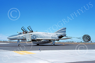 F-4USN 00498 A taxing McDonnell Douglas F-4 Phantom II US Navy 1011 VF-154 BLACK KNIGHTS USS Coral Sea NK NAS Fallon Oct 1982 military airplane picture by Michael Grove, Sr