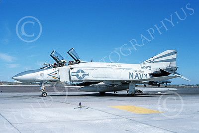 F-4USN 00535 A taxing McDonnell Douglas F-4 Phantom II US Navy 2318 VF-154 BLACK KNIGHTS USS Coral Sea NK NAS Fallon Oct 1982 military airplane picture by Michael Grove, Sr