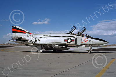 F-4USN 00060 A taxing McDonnell Douglas F-4 Phantom II US Navy 1455 VF-154 BLACK KNIGHTS USS Coral Sea NK NAS Fallon May 1981 military airplane picture by Michael Grove, Sr