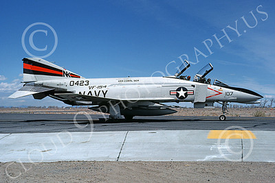 F-4USN 00575 A taxing McDonnell Douglas F-4N Phantom II US Navy 150423 VF-154 BLACK KNIGHTS USS Coral Sea NK NAS Fallon May 1981 airplane picture by Michael Grove, Sr
