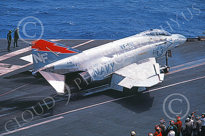F-4USN 00030 A McDonnell Douglas F-4S Phantom II US Navy 153808 VF-161 CHARGERS commanding officer's plane USS Midway 1983 military airplane picture by Carl Sanford