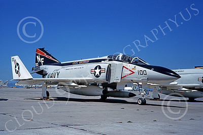F-4USN 00537 A static McDonnell Douglas F-4N Phantom II US Navy 150491 VF-161 CHARGERS CAG USS Midway NF NAS Alameda Dec 1973 military airplane picture by Michael Grove, Sr