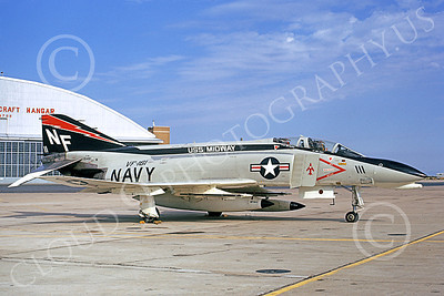 F-4USN 00519 A static McDonnell Douglas F-4N Phantom II US Navy 154191 VF-161 CHARGERS USS Midway NF MiG KILLER 15 July 1973 military airplane picture by Michael Grove, Sr