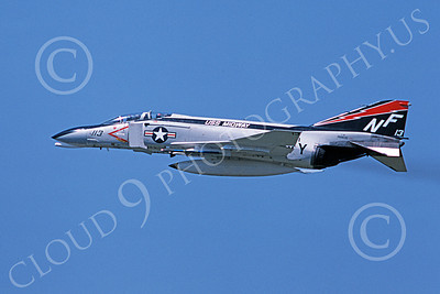 F-4USN 00890 A flying McDonnell Douglas F-4N Phantom II US Navy 150635 VF-161 CHARGERS USS Midway 5-1976 military airplane picture by Masumi Wada