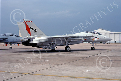 F-14USN  01247  A static Grumman F-14 Tomcat USN 161279 VF-191 SATAN'S KITTENS USS Independence NAS Miramar 7-1987, by Steve Schaffer