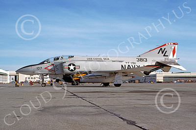 F-4USN 00415 McDonnell Douglas F-4J Phantom II US Navy 153813 VF-191 SATAN'S KITTENS USS Coral Sea NAS Alameda Dec 1976, military airplane picture, by Michael Grove, Sr
