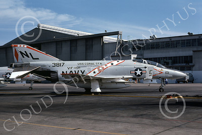 F-4USN 00411 McDonnell Douglas F-4J Phantom II US Navy 153817 VF-191 SATAN'S KITTENS USS Coral Sea Bicentennial Markings NAS Miramar Oct 1976, by Michael Grove, Sr