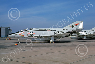 F-4USN 00397 McDonnell Douglas F-4J Phantom II US Navy 153851 VF-194 LEGENDARY RED LIGHTNINGS USS Coral Sea Oct 1976, by Michael Grove, Sr