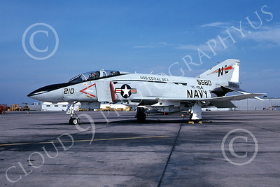 F-4USN 00433 McDonnell Douglas F-4 Phantom II US Navy 5580 VF-194 LEGENDARY RED LIGHTNINGS USS Coral Sea Oct 1976, military airplane picture, by Michael Grove, Sr