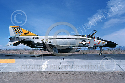 F-4USN 00521 A taxing McDonnell Douglas F-4N Phantom II US Navy 0415 VF-21 FREELANCERS USS Coral Sea NK NAS Fallon May 1981 military airplae picture by Michael Grove, Sr
