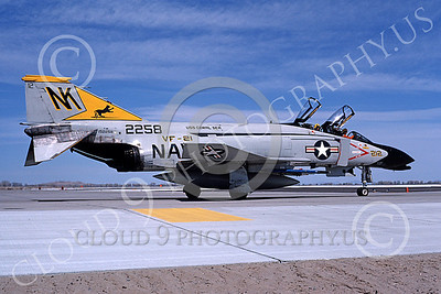 F-4USN 00601 A taxing McDonnell Douglas F-4J Phantom II US Navy  2258 VF-21 FREELANCERS USS Coral Sea NK NAS Fallon May 1981 airplane picture by Michael Grove, Sr