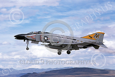 F-4USN 00174 A landing McDonnell Douglas F-4N Phantom II US Navy 150489 VF-21 FREELANCERS USS Coral Sea NK code NAS Fallon 5-1981 military airplane picture by Michael Grove, Sr