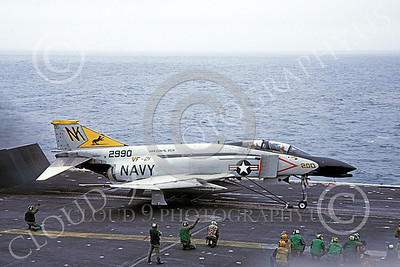 F-4USN 00547A A McDonnell Douglas F-4J Phantom II US Navy 2990 VF-21 FREELANCERS commanding officer's on USS Coral Sea NK Sept 1981 by Doug Olson