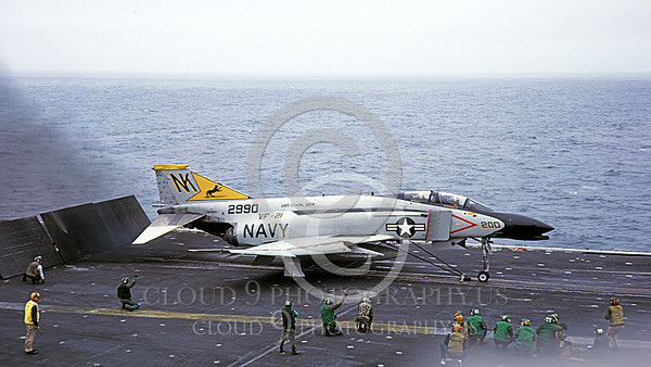 F-4USN 00547B A McDonnell Douglas F-4J Phantom II US Navy 2990 VF-21 FREELANCERS commanding officer's on USS Coral Sea NK Sept 1981 by Doug Olson