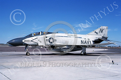 F-4USN 00621 A taxing McDonnell Douglas F-4J Phantom II US Navy VF-21 FREELANCERS commanding officer's USS Coral Sea NK NAS Fallon Oct 1982 military airplane picture by Michael Grove, Sr